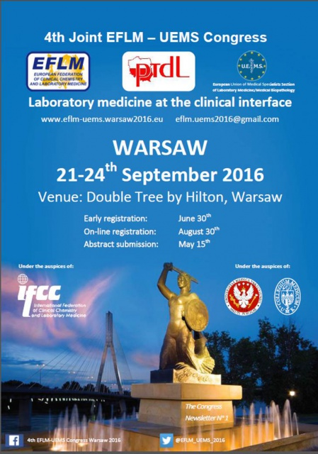 "4th Joint EFLM-UEMS Congress ""Laboratory Medicine at the Clinical Interface"""